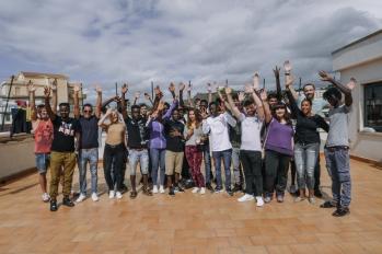 Vist to Refugee Camp in Agrigento